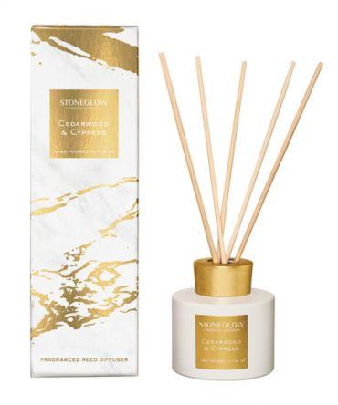 Ароматизатор - Дифузер с пръчици Cedarwood & Cypress, подходящ подарък за рожден ден, романтичен подарък за жена или декорация на дома