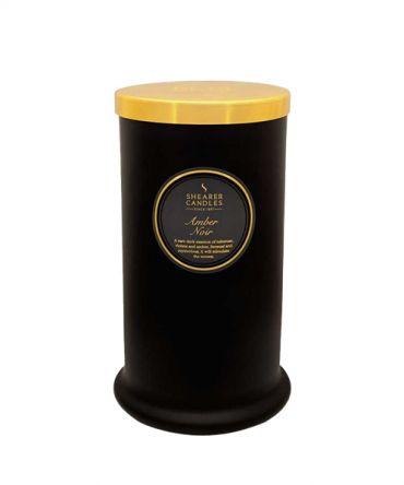 Висока ароматна свещ Amber Noir - флорален ориенталски аромат, подходящ подарък за жена или мъж