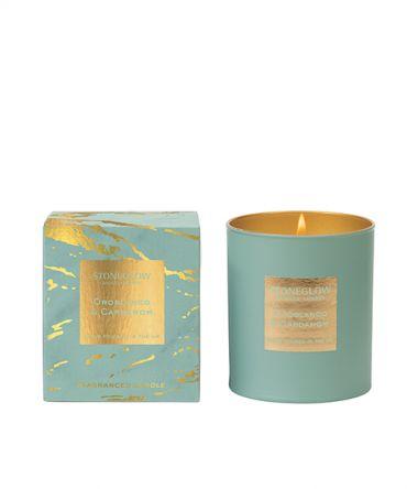 Луксозна Ароматна свещ Oroblanco & Cardamom, елегантен подарък или ароматизатор за дома