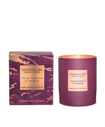 Луксозна Ароматна свещ Velvet gardenia & Tuberose с флорален аромат, романтичен подарък за жена