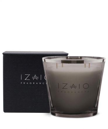 Луксозна голяма ароматна свещ IZAIO Fragrances в кутия за подарък, произведена в Белгия