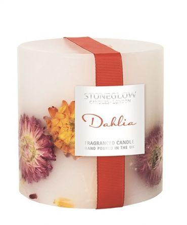 Декоративна ароматна свещ, с естествени цветя, подходяща за подарък