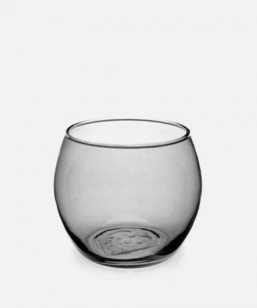 Малък опушено-сив свещник за чаена свещ