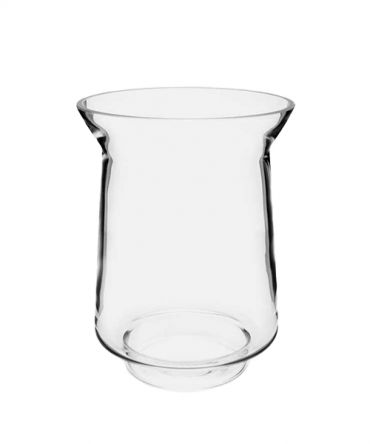 Голям стъклен свещник за висока ароматна свещ