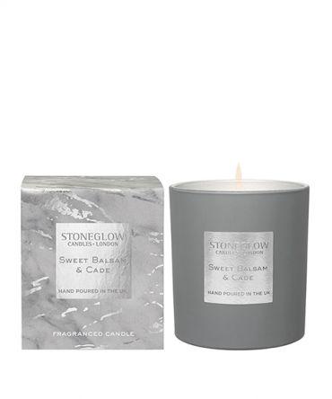 Луксозна Ароматна свещ Sweet Balsam & Cade с дървесен аромат, подходяща за подарък