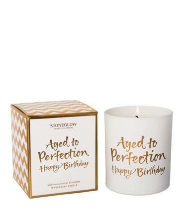 Ароматна свещ Aged to Perfection - Happu Birthday, подходящ подарък за рожден ден