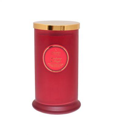 Ароматна свещ Cranberry & Ginger Coloured Pillar Jar