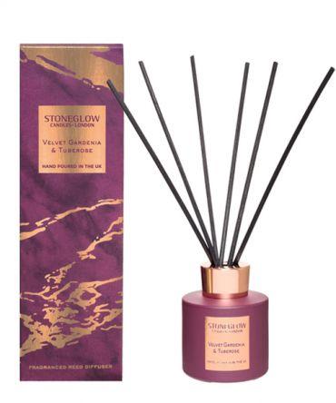 Ароматизатор - Дифузер с пръчици Velvet Gardenia & Tuberose, подходящ подарък за жена или декорация на дома